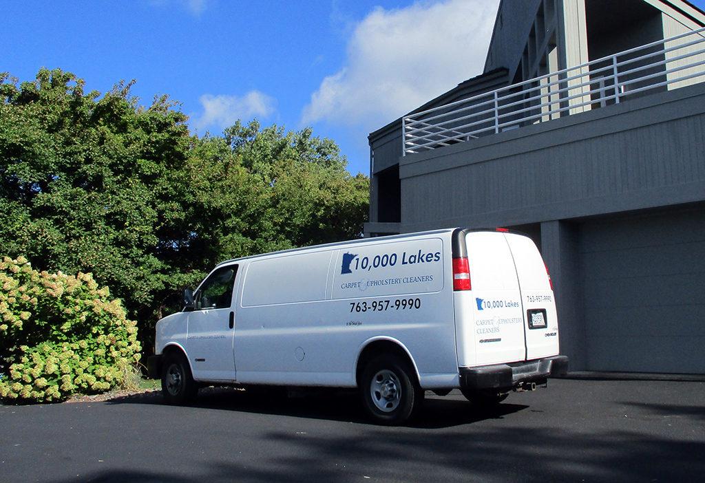 10,000 Lakes Carpet Cleaning Van